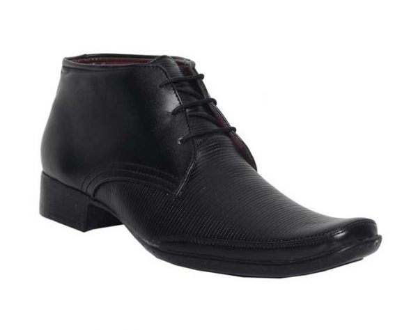 Leeport-Black-Synthetic-Leather-Shoes