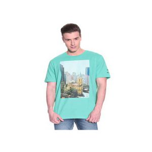 Puma-Green-Cotton-T-Shirt-Half-Sleeve